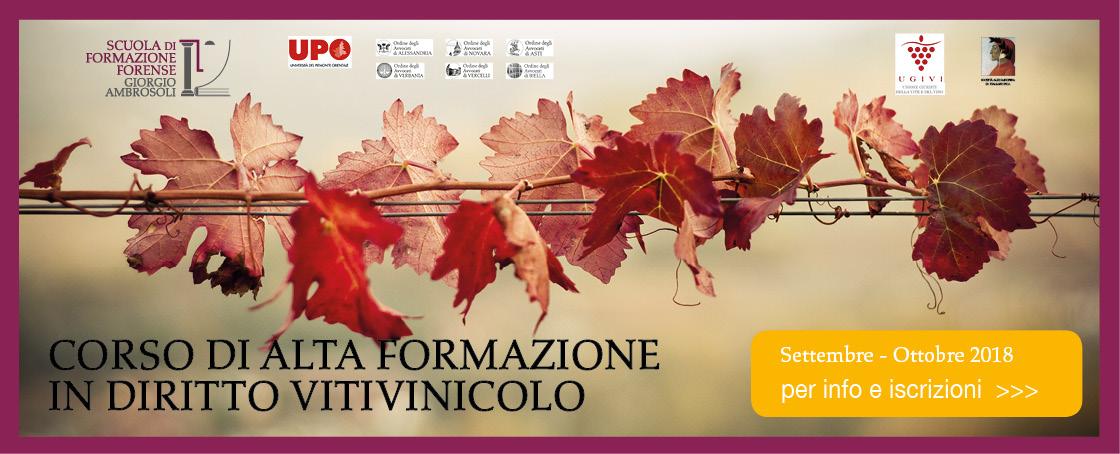 alta formazione diritto vitivinicolo